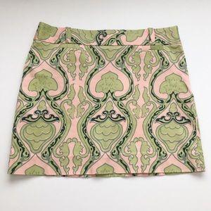 J. Crew pattern mini skirt